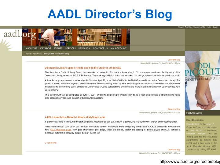 AADL Director's Blog