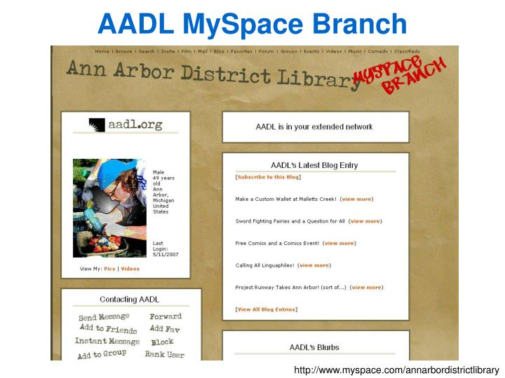 AADL MySpace Branch