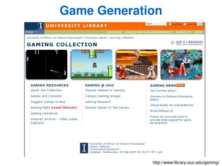 Game Generation