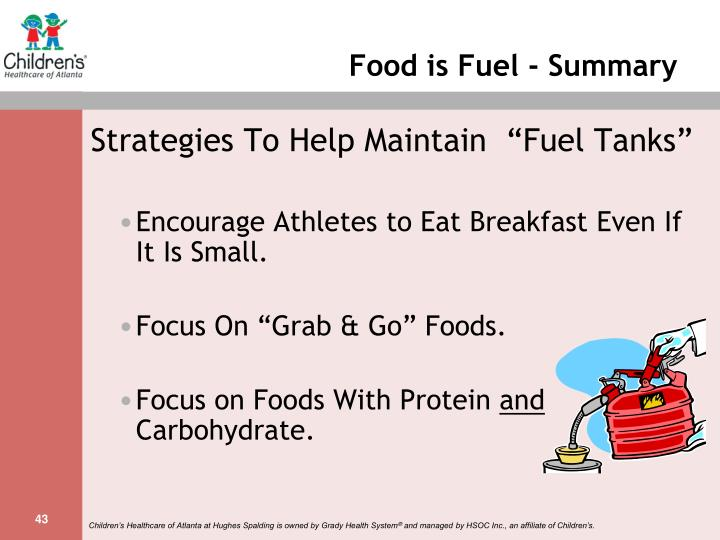 Food is Fuel - Summary