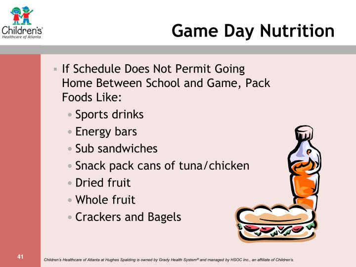 Game Day Nutrition