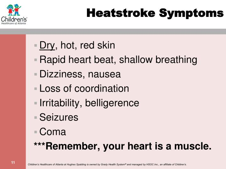 Heatstroke Symptoms