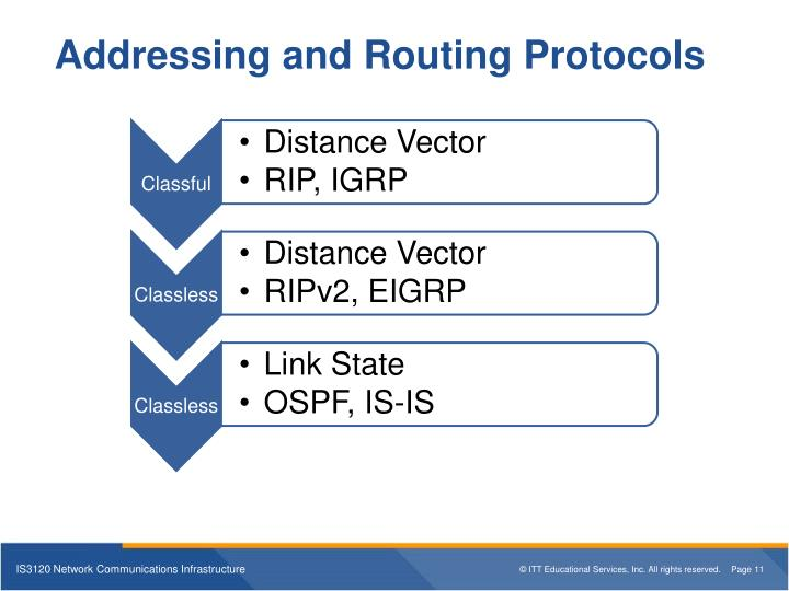 Addressing and Routing Protocols