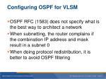 configuring ospf for vlsm