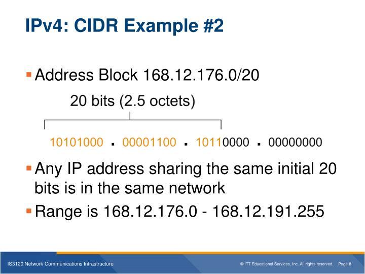 IPv4: CIDR