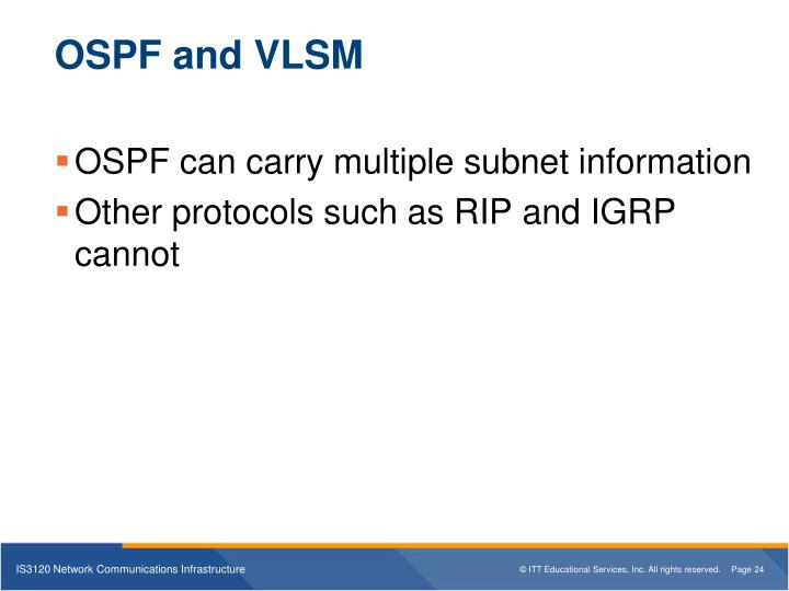OSPF and VLSM