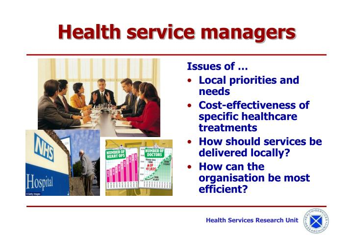 Health service managers