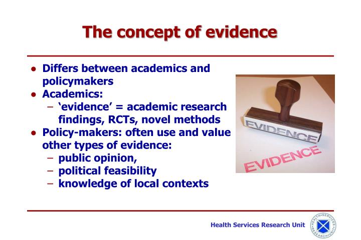 The concept of evidence