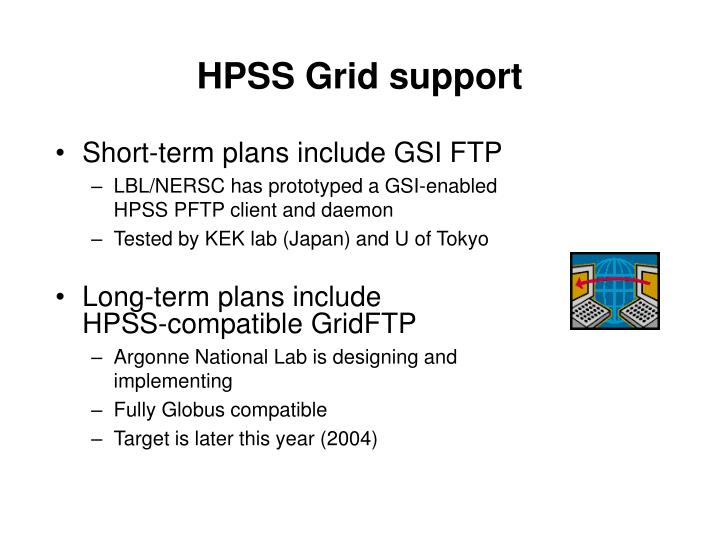 HPSS Grid support