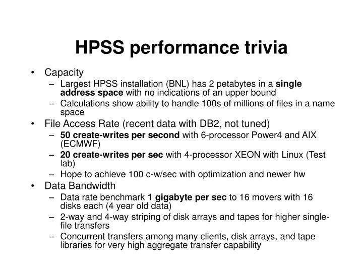 HPSS performance trivia