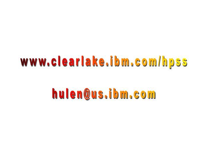 www.clearlake.ibm.com/hpss