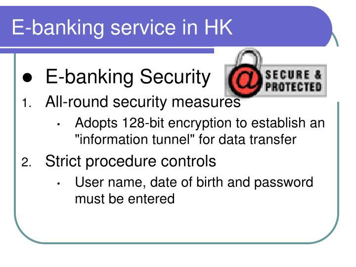 E-banking service in HK