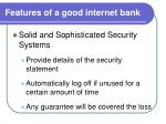 features of a good internet bank1