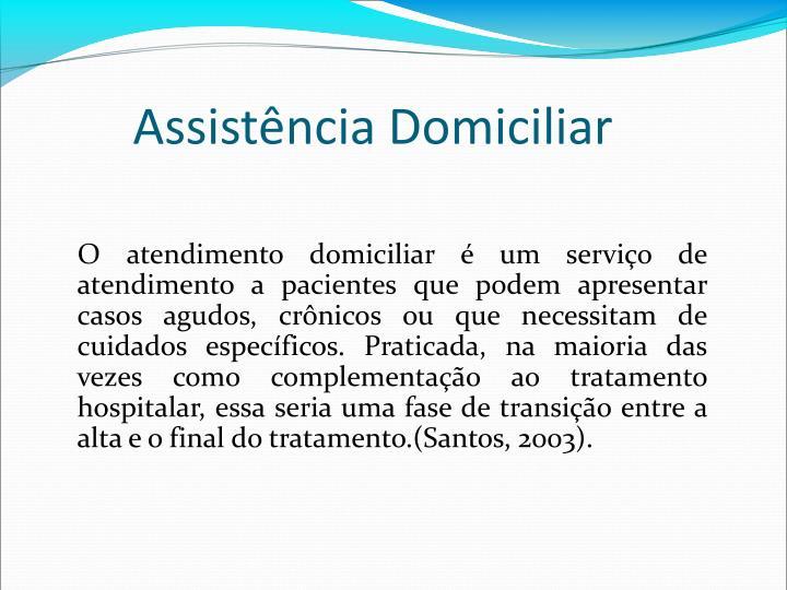 Assistncia Domiciliar