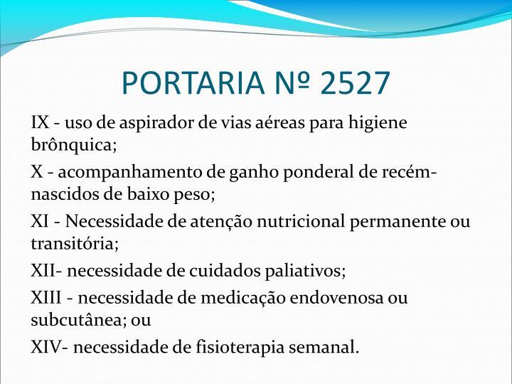 PORTARIA N 2527