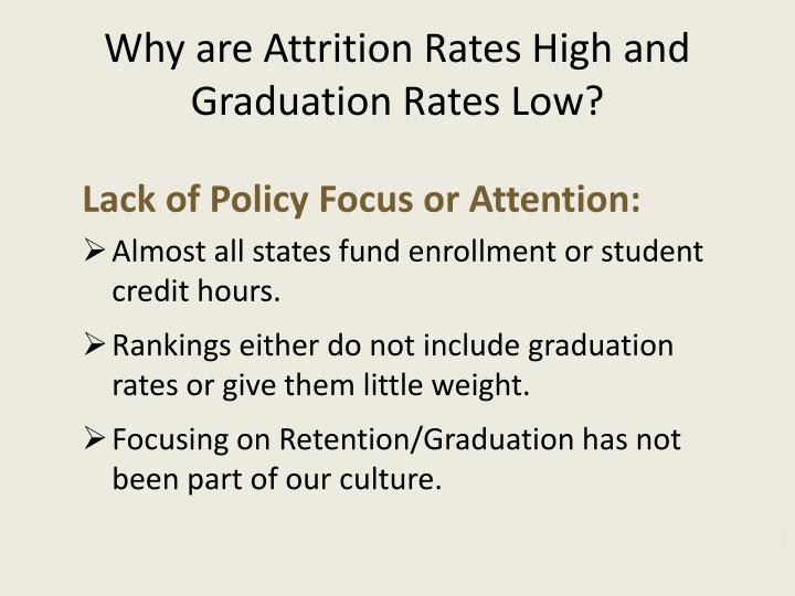 Why are Attrition Rates High and Graduation Rates Low?