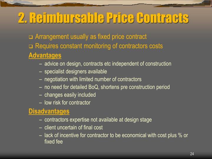 2. Reimbursable Price Contracts