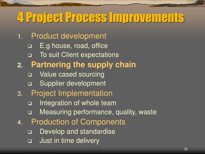 4 Project Process Improvements