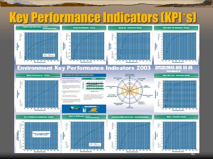 Key Performance Indicators (KPI