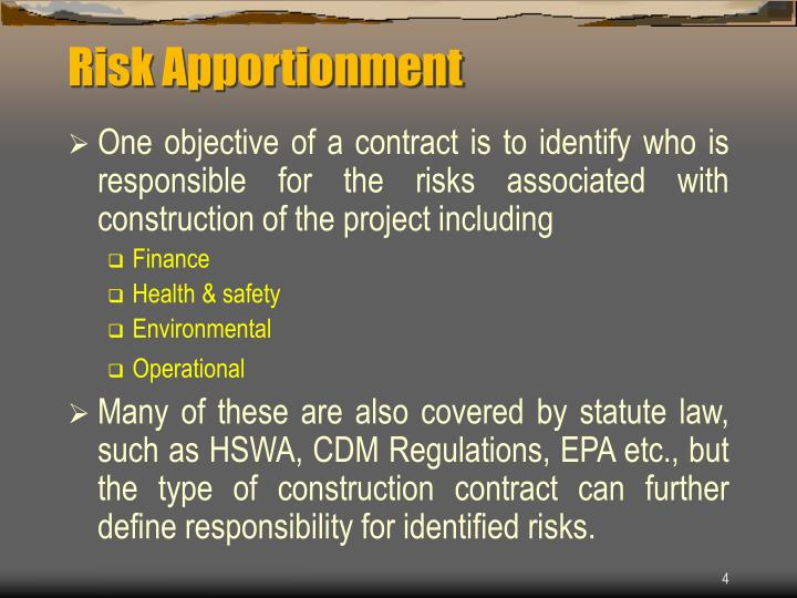 Risk Apportionment