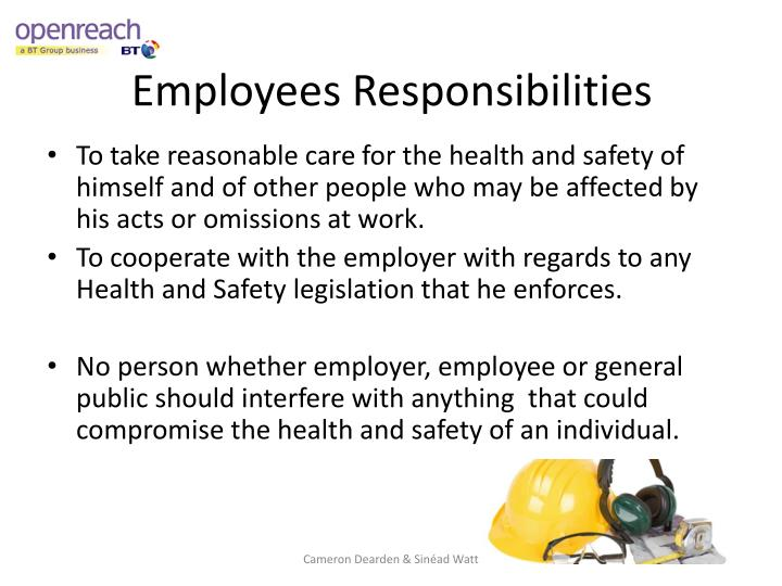 Employees Responsibilities