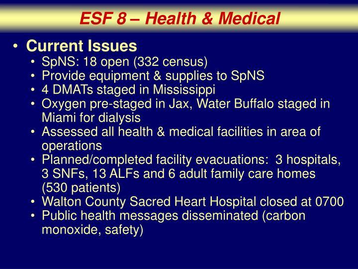 ESF 8 – Health & Medical