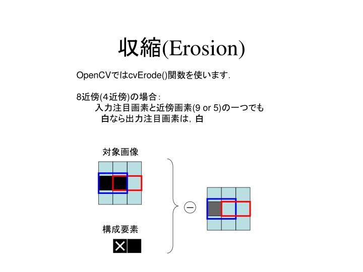収縮(Erosion)