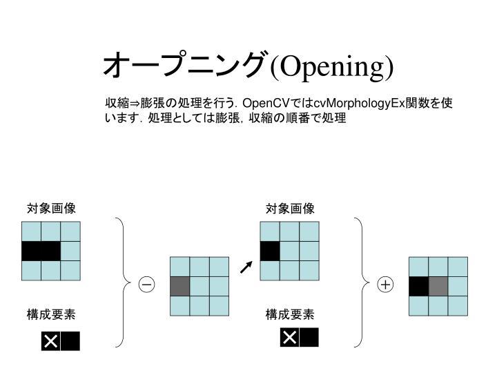 オープニング(Opening)