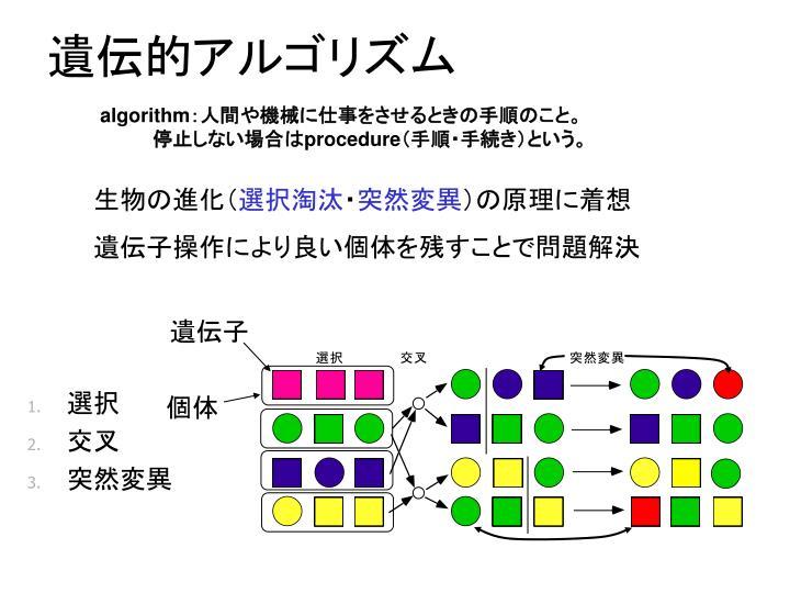 遺伝的アルゴリズム