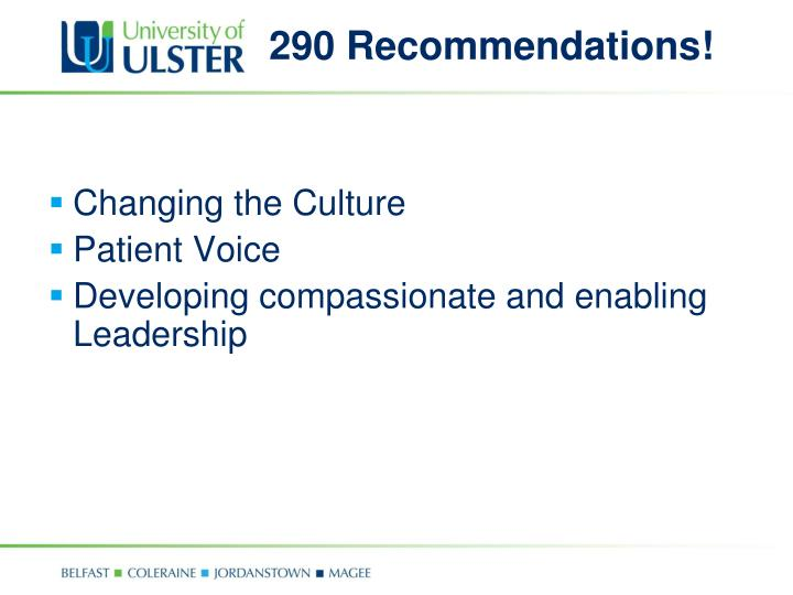 290 Recommendations!