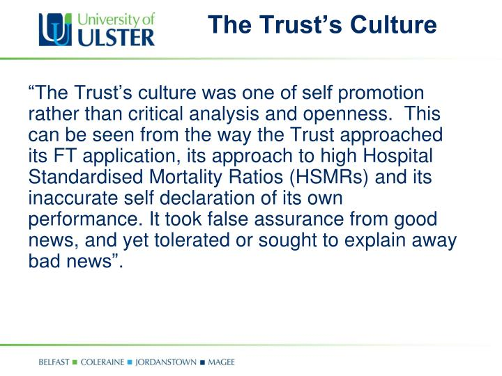 The Trust's Culture