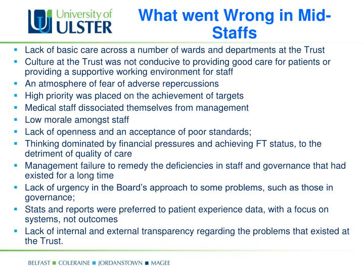 What went Wrong in Mid-Staffs