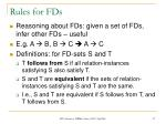 rules for fds