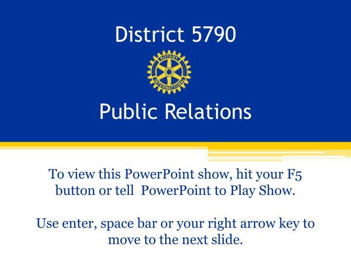 District 5790
