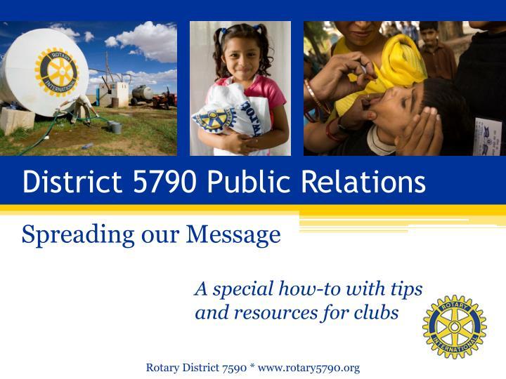 District 5790 Public Relations