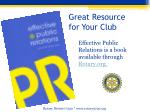great resource for your club