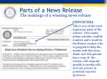 parts of a news release3