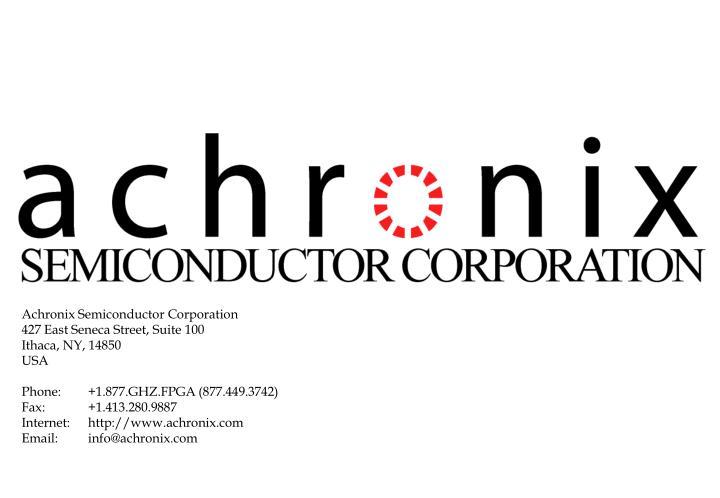 Achronix Semiconductor Corporation