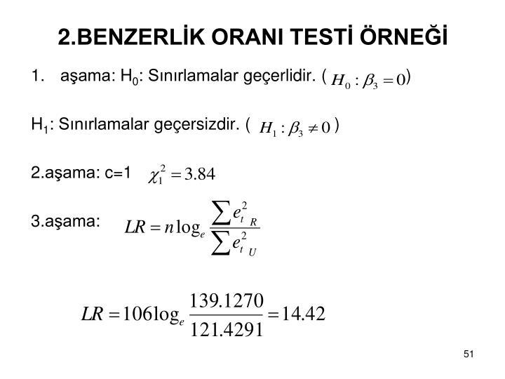 2.BENZERLİK ORANI TESTİ ÖRNEĞİ
