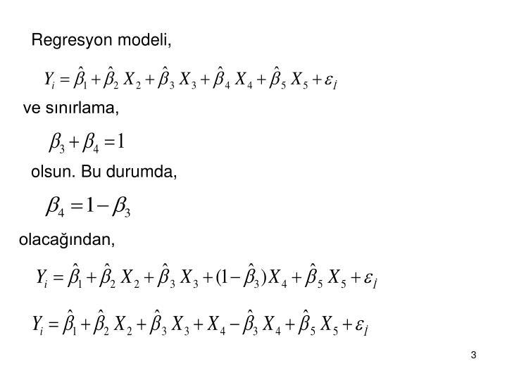 Regresyon modeli,