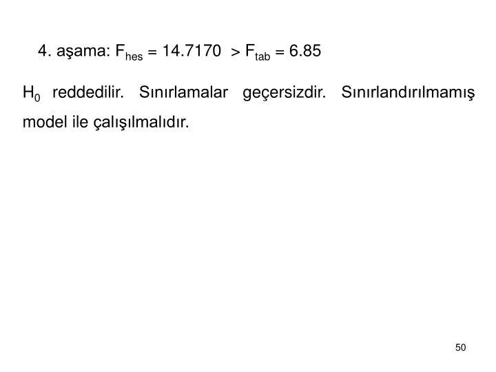 4. aşama: F