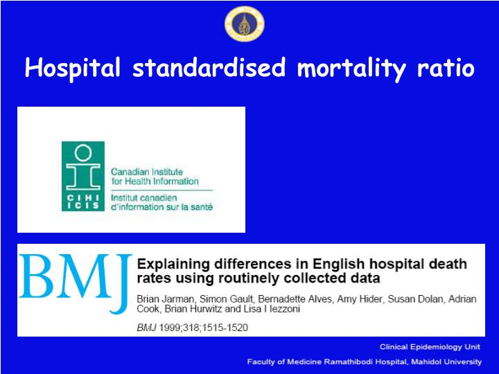 Hospital standardised mortality ratio