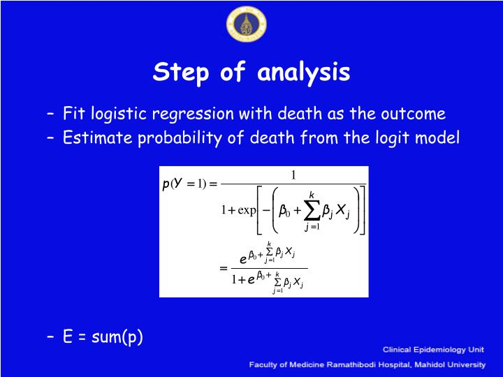 Step of analysis