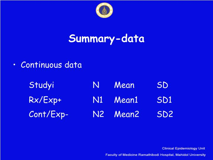 Summary-data