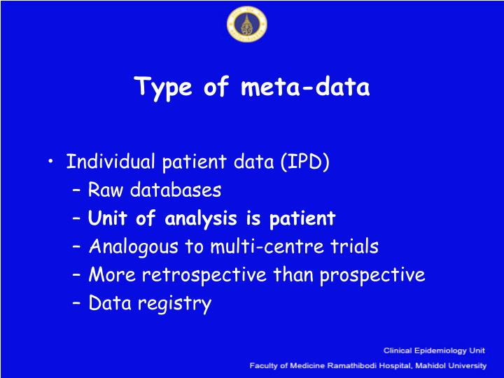 Type of meta-data