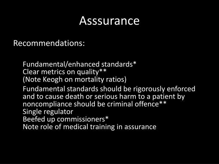 Asssurance