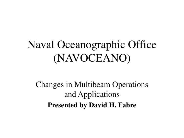 naval oceanographic office navoceano