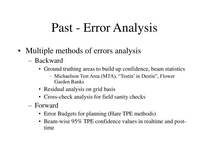 Past - Error Analysis