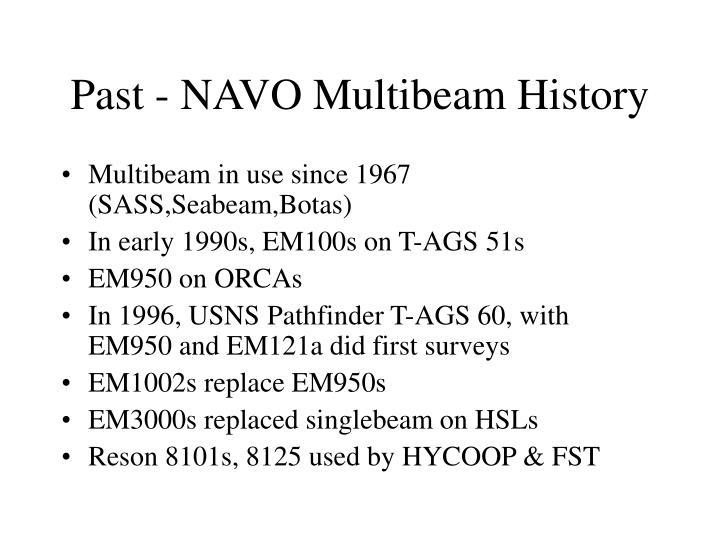 Past - NAVO Multibeam History