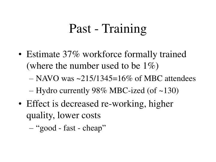 Past - Training